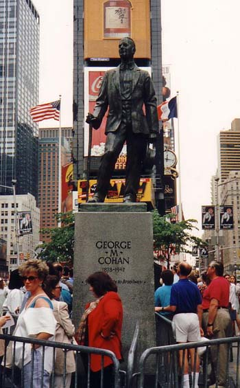 You've seen the film 'Yankee Doodle Dandy' now see the statue !